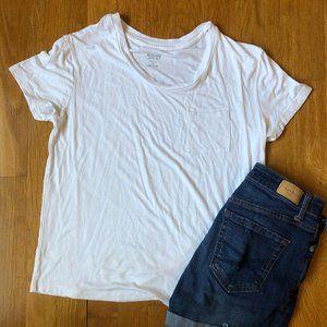 White Flowy Tee Shirt